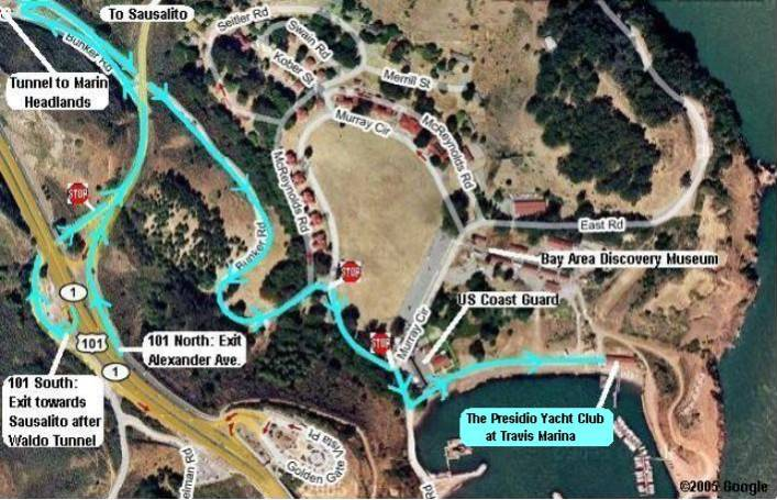 Presidio Yacht Club Map