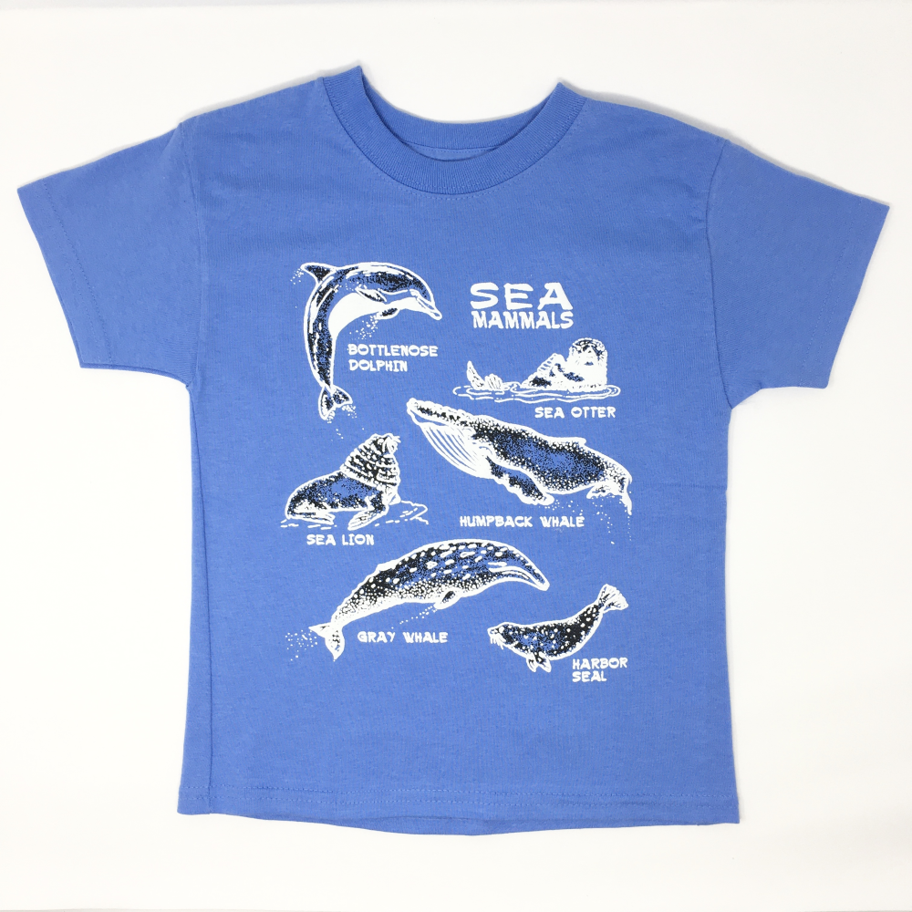 Youth Marine Mammal Collage T-shirt