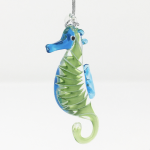 Click here for more information about Glass Seahorse Ornament