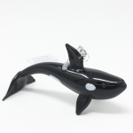 Click here for more information about Glass Orca Ornament