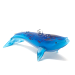 Click here for more information about Glass Blue Whale Ornament