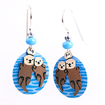 Click here for more information about Sea Otter Earrings - 3 designs