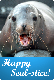 E-card - Happy Seal-Stice - Blonde Bomber